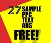 27 Sample PPC Text Ads