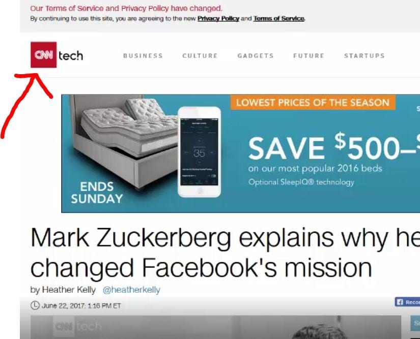 Display Ads on CNN Tech