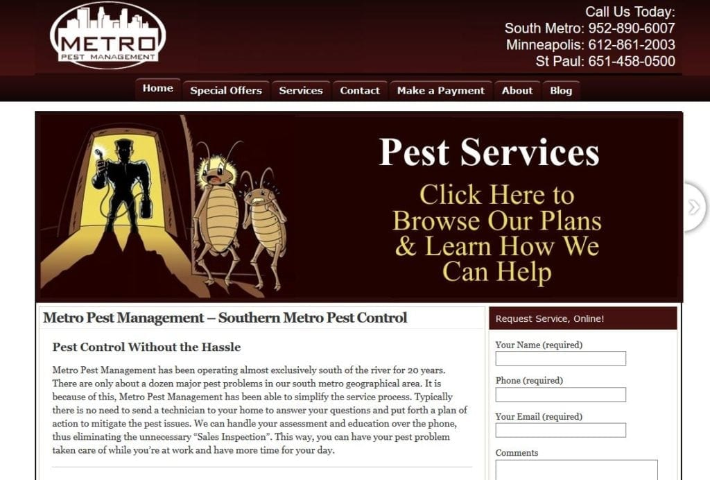 Pest Control Home Page