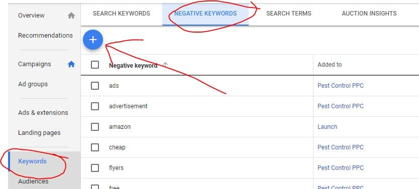 How to Add Negative Keywords in Google Ads / AdwordsPPC Video Training